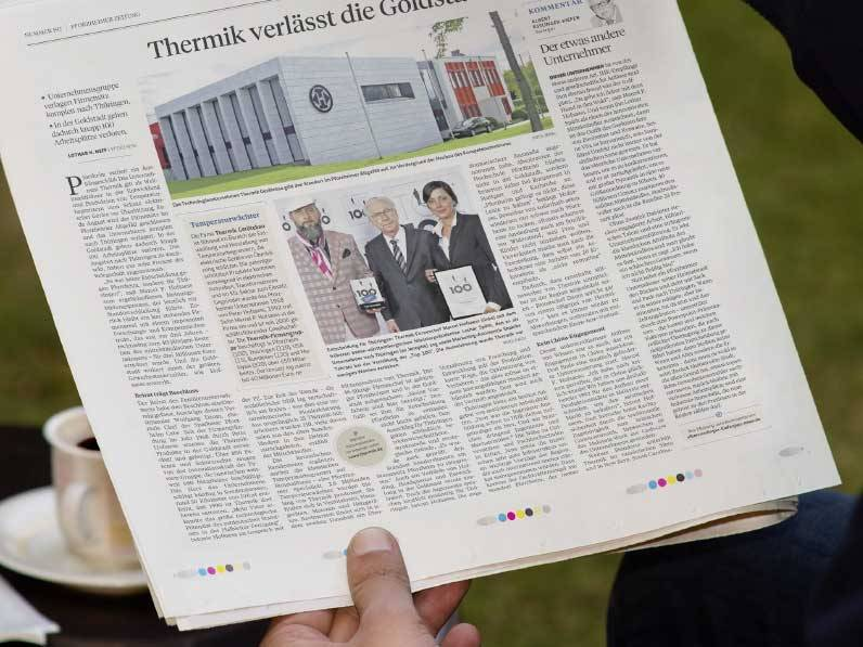 Pforzheim loses a figurehead – article about Thermik